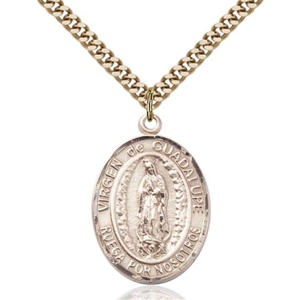 14kt gold filled virgen de guadalupe pendant the catholic company