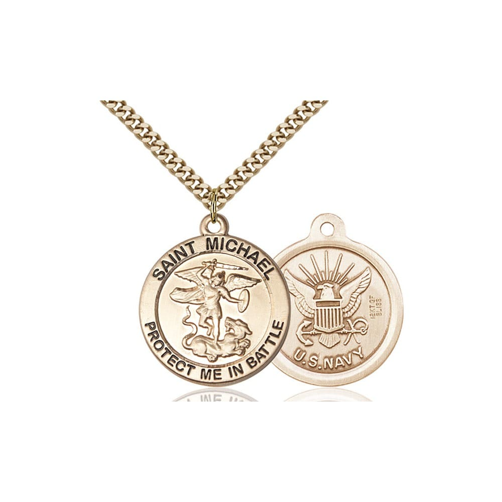 14kt gold filled st michael the archangel pendant navy the this item ships directly from the manufacturer aloadofball Image collections