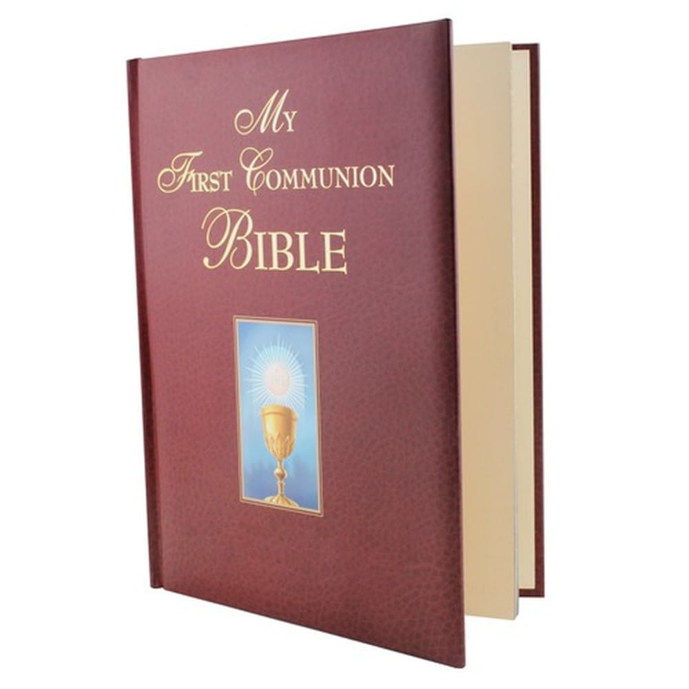 My First Communion Bible - Burgundy | The Catholic Company