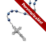 PERSONALIZE: Blue Glass Beads Rosary