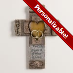PERSONALIZE: Faith, Hope and Love Marriage Cross - 10.5 inch