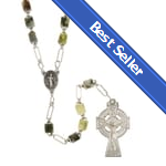 BEST SELLER: Genuine Connemara Marble Irish Rosary