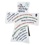 Gifts of the Holy Spirit Cross Plaque - 6 inch