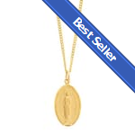 Gold/Sterling Silver Miraculous Medal on 18 inch chain