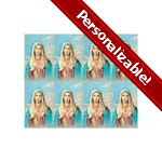 Immaculate Heart of Mary Personalized Prayer Card (Priced Per Card)
