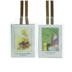 Laminated Scapular with Brown Strings