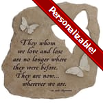 PERSONALIZE: Memorial Wherever We Are Garden Stone