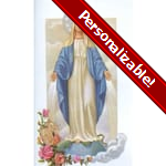 Miraculous Medal Personalized Prayer Card (Priced Per Card)