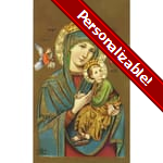 Our Lady of Perpetual Help Personalized Prayer Card (Priced Per Card)