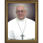 Pope Francis Formal Print in Gold Frame