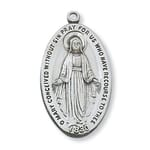 Sterling Silver Miraculous Medal with 24 inch chain