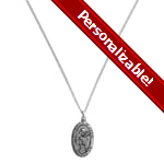 PERSONALIZE: Sterling Silver St. Francis Medal with 18 inch chain