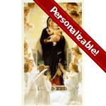 Virgin with Angels / Mary Queen of Angels Personalized Prayer Card (Priced Per Card)