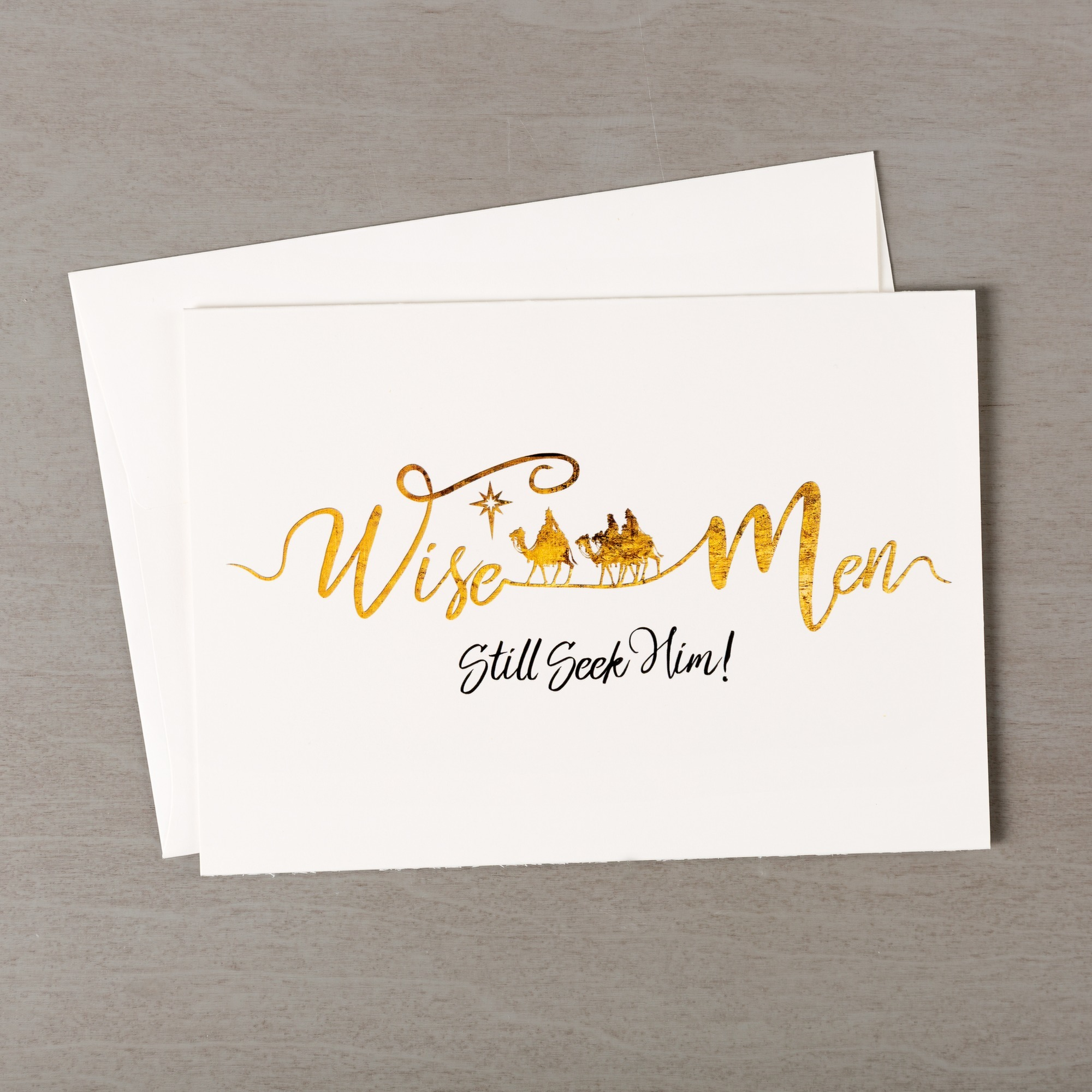 Wise Men Seek Him Gold & Black Christmas Cards - Set of 20 | The ...