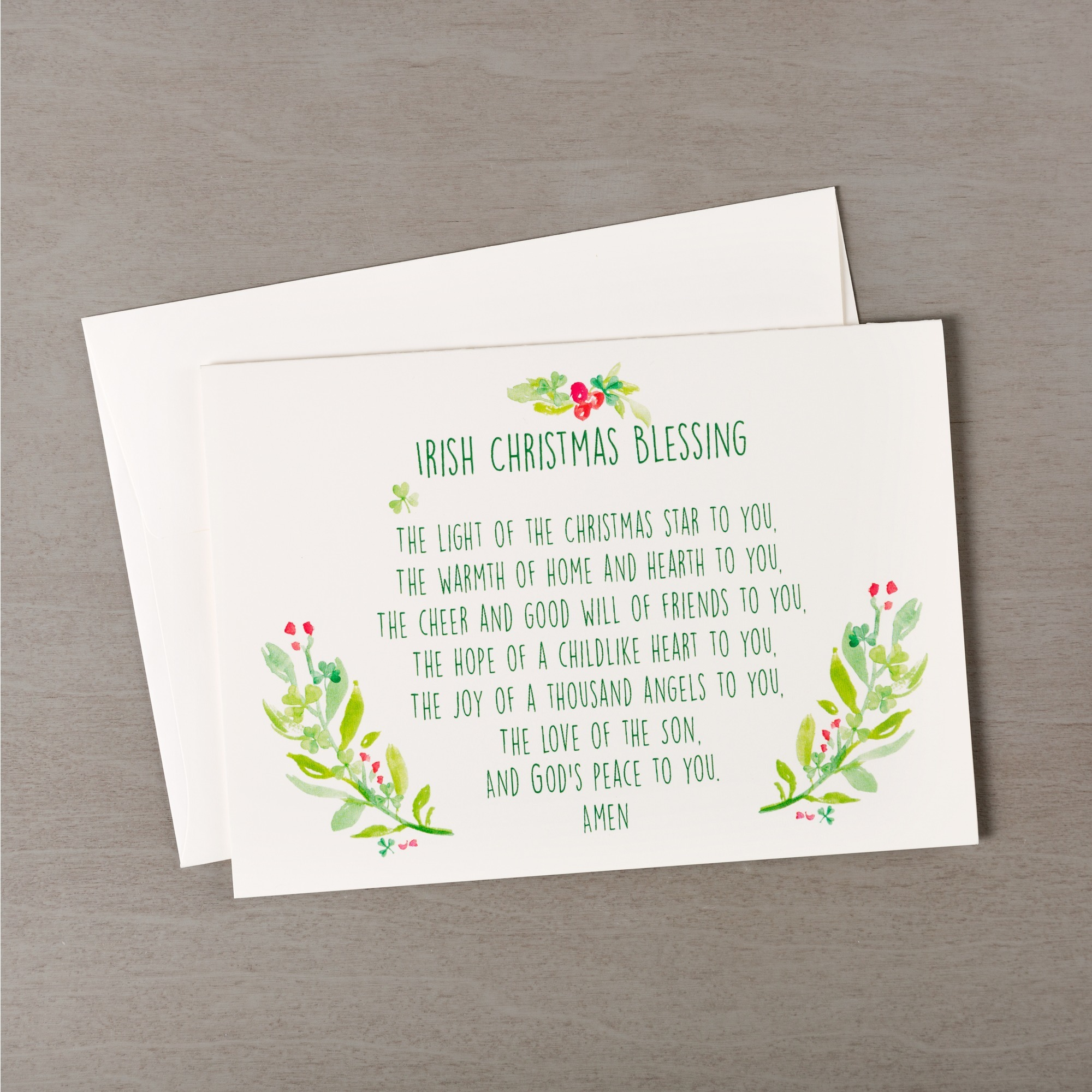 Irish Christmas Blessing Greeting Cards - Set of 20 | The Catholic ...