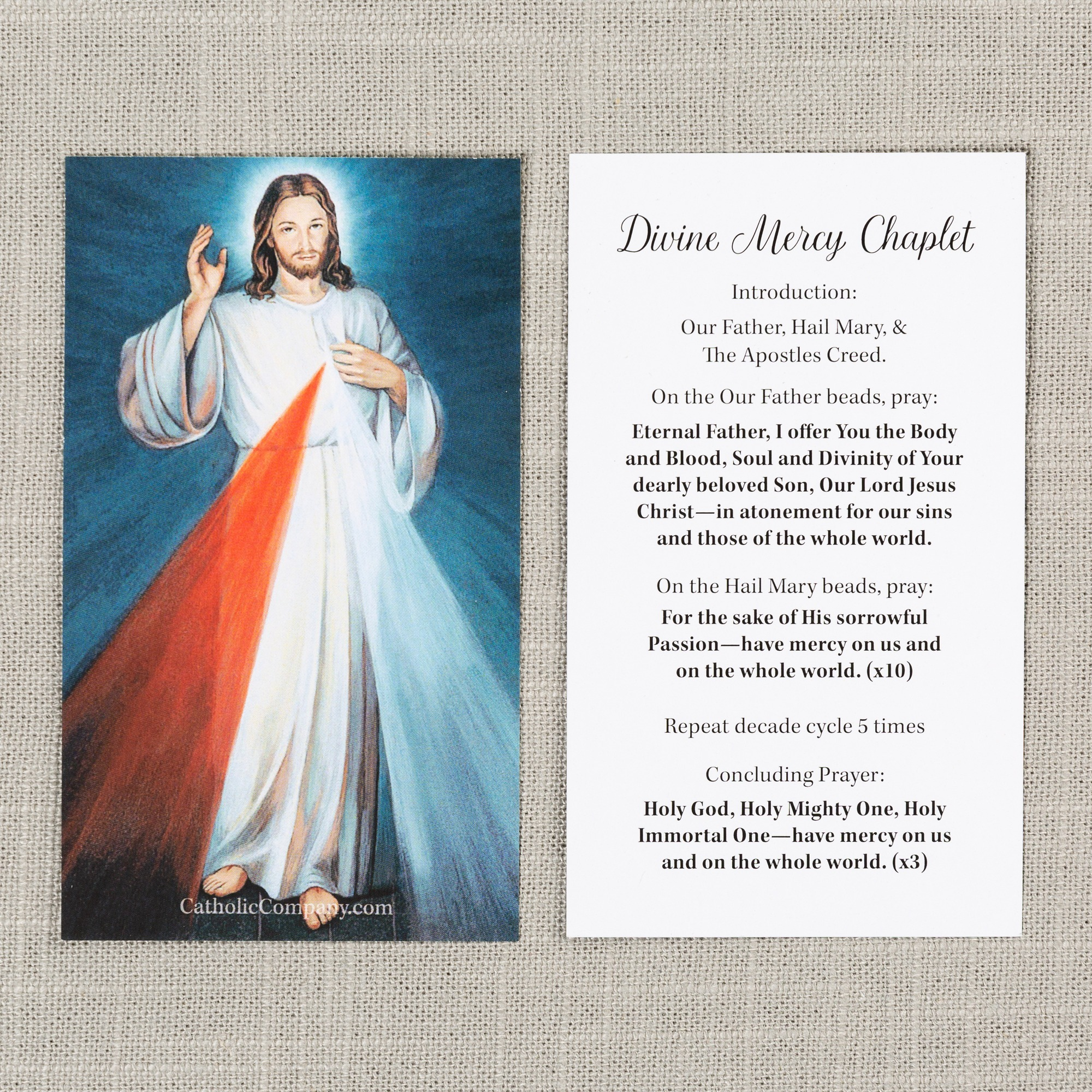 photo about Divine Mercy Chaplet Printable named Divine Mercy Impression and Chaplet Prayer Card