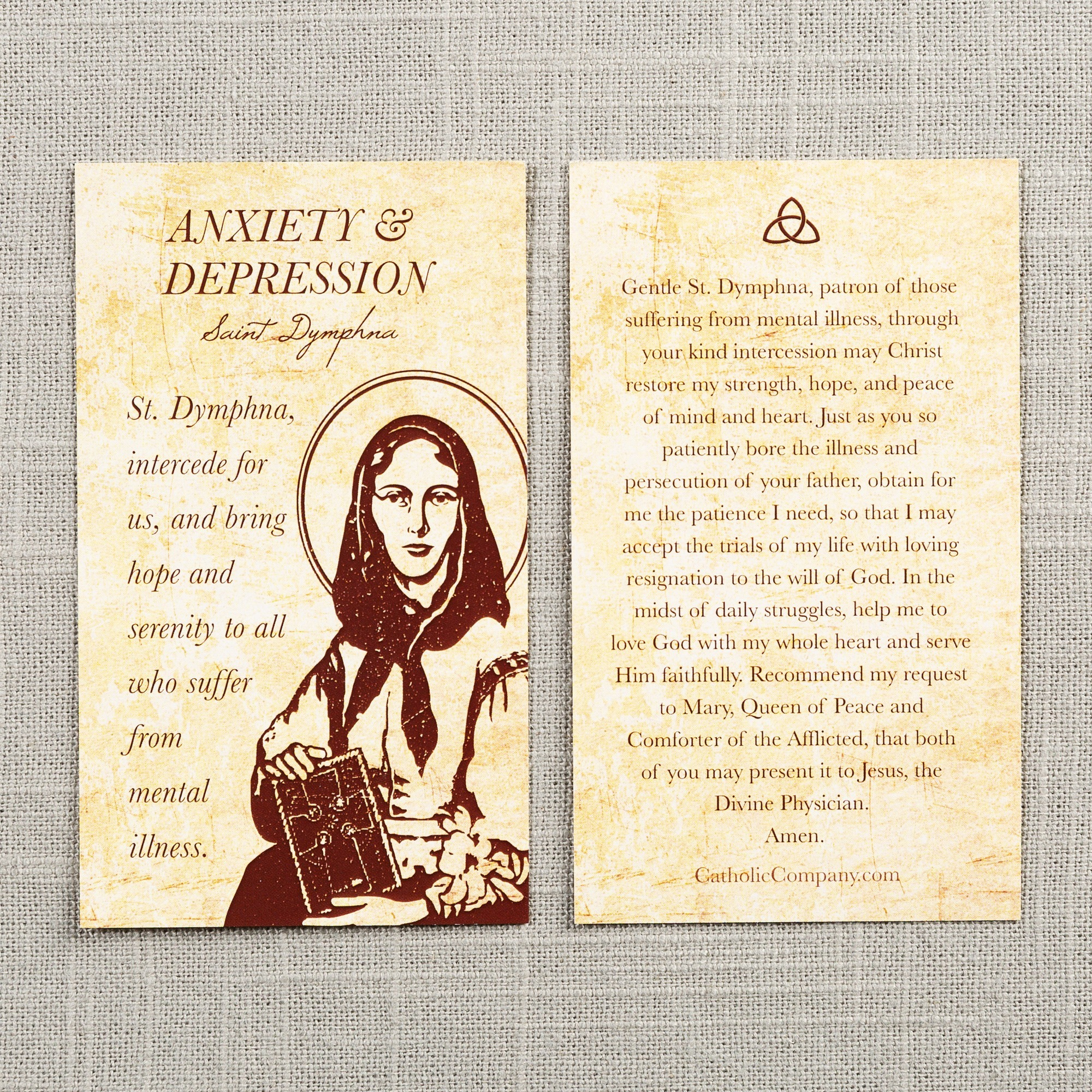 St. Dymphna Depression and Anxiety Prayer Card | The ...