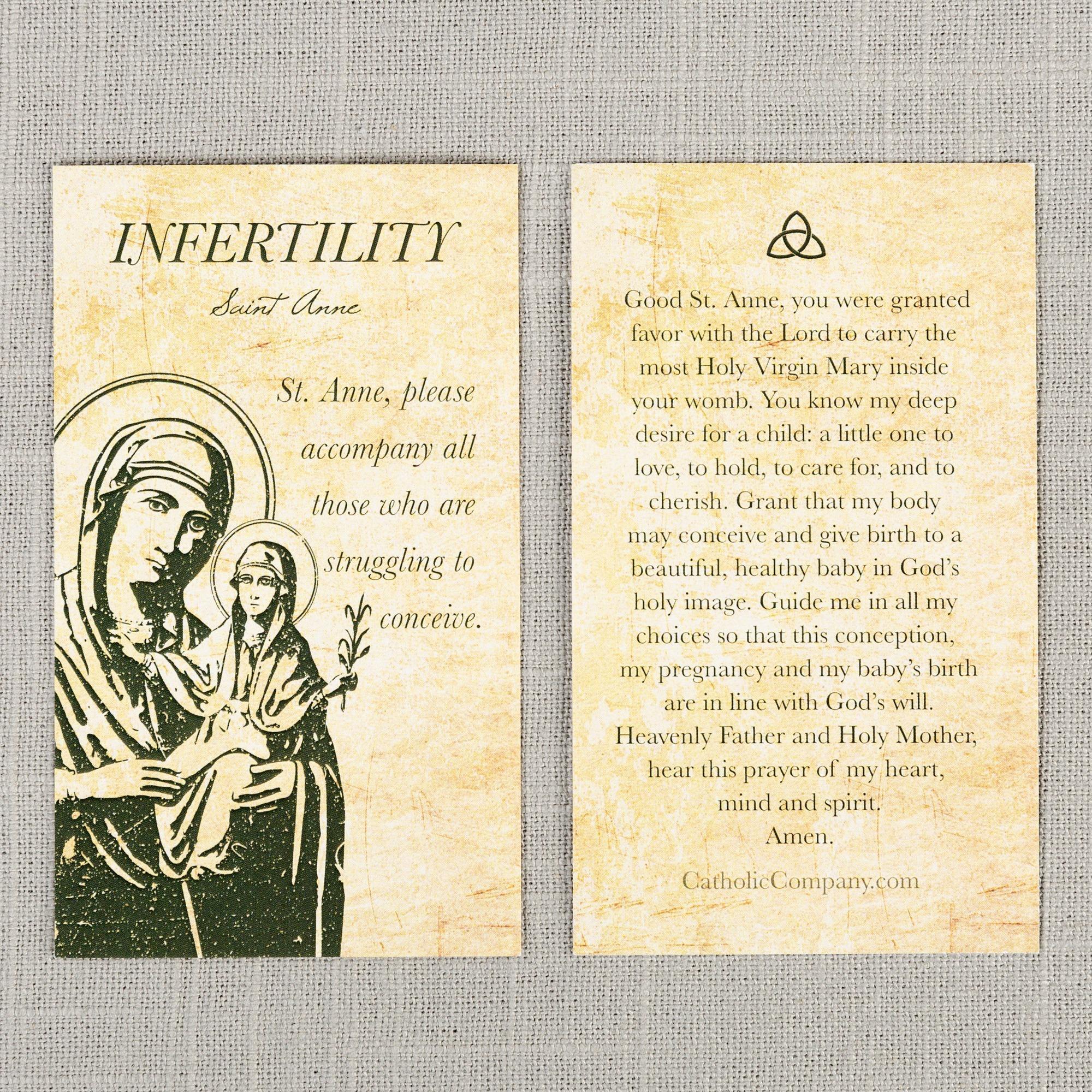 photo regarding Surrender Novena Printable identified as St. Anne - Infertility Prayer Card
