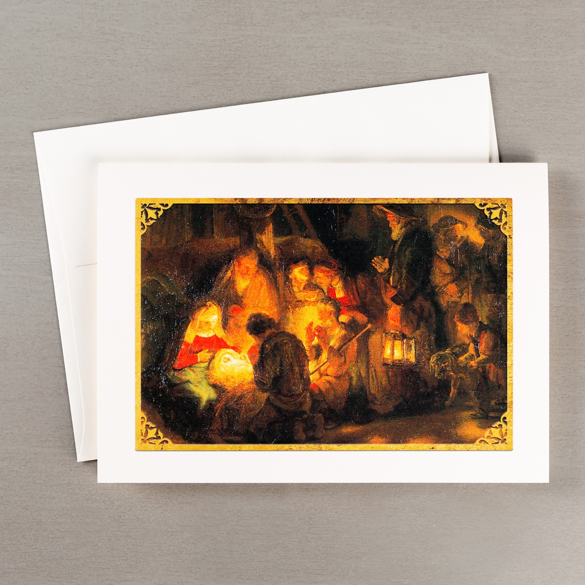 Rembrandt\'s Pupil Adoration of the Shepherds Christmas Cards - Set ...
