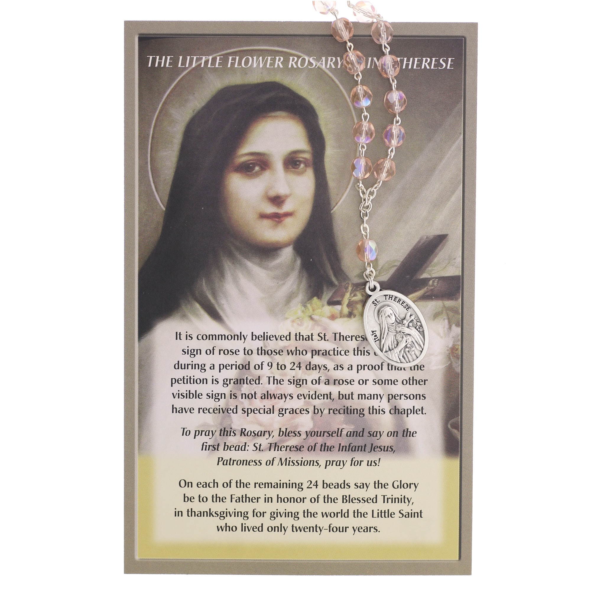 chaplet of st therese of lisieux