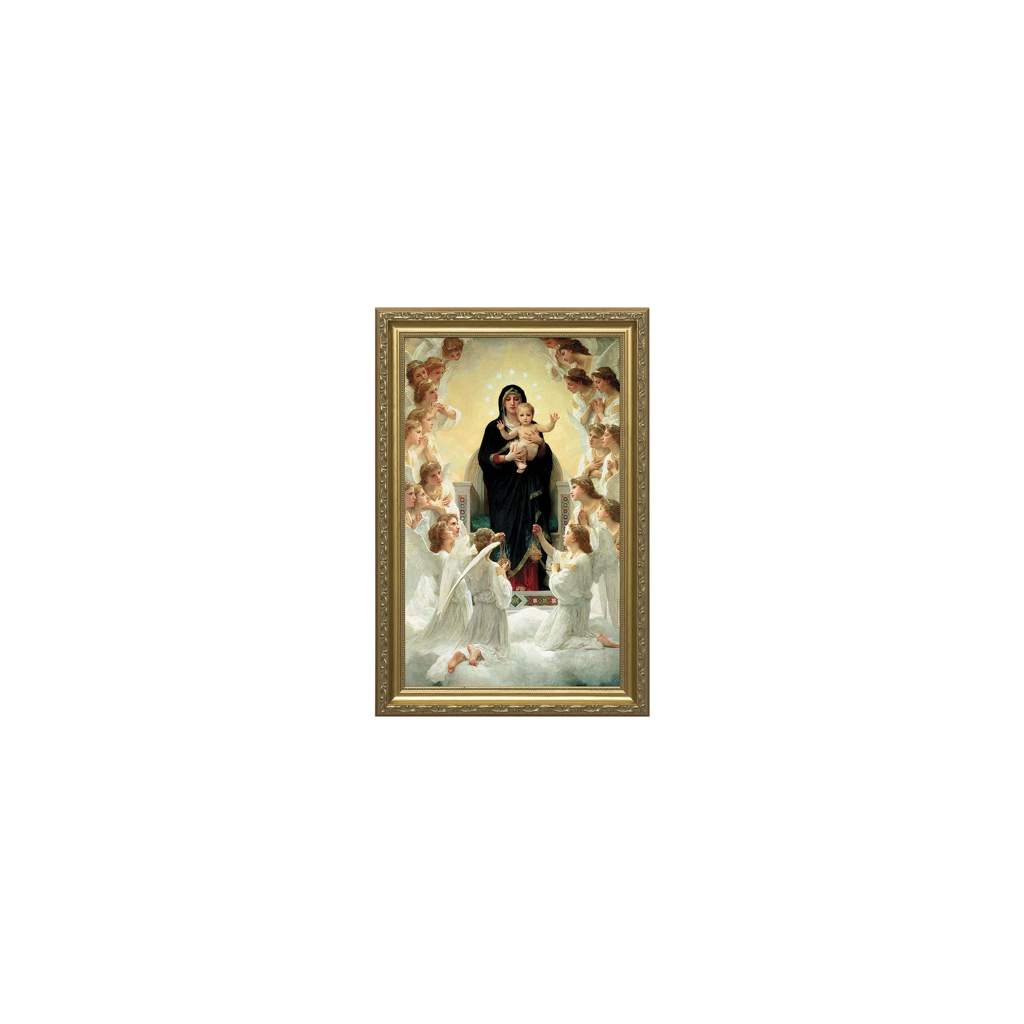 Our Lady Of The Angels By Bouguereau Museum Gold Frame 14x22 The
