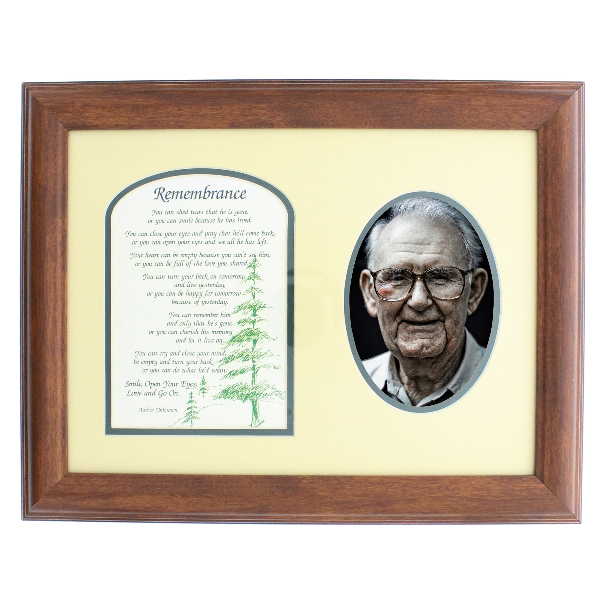 Remembrance Photo Memorial Frame - Male - 11 x 14 | The Catholic Company