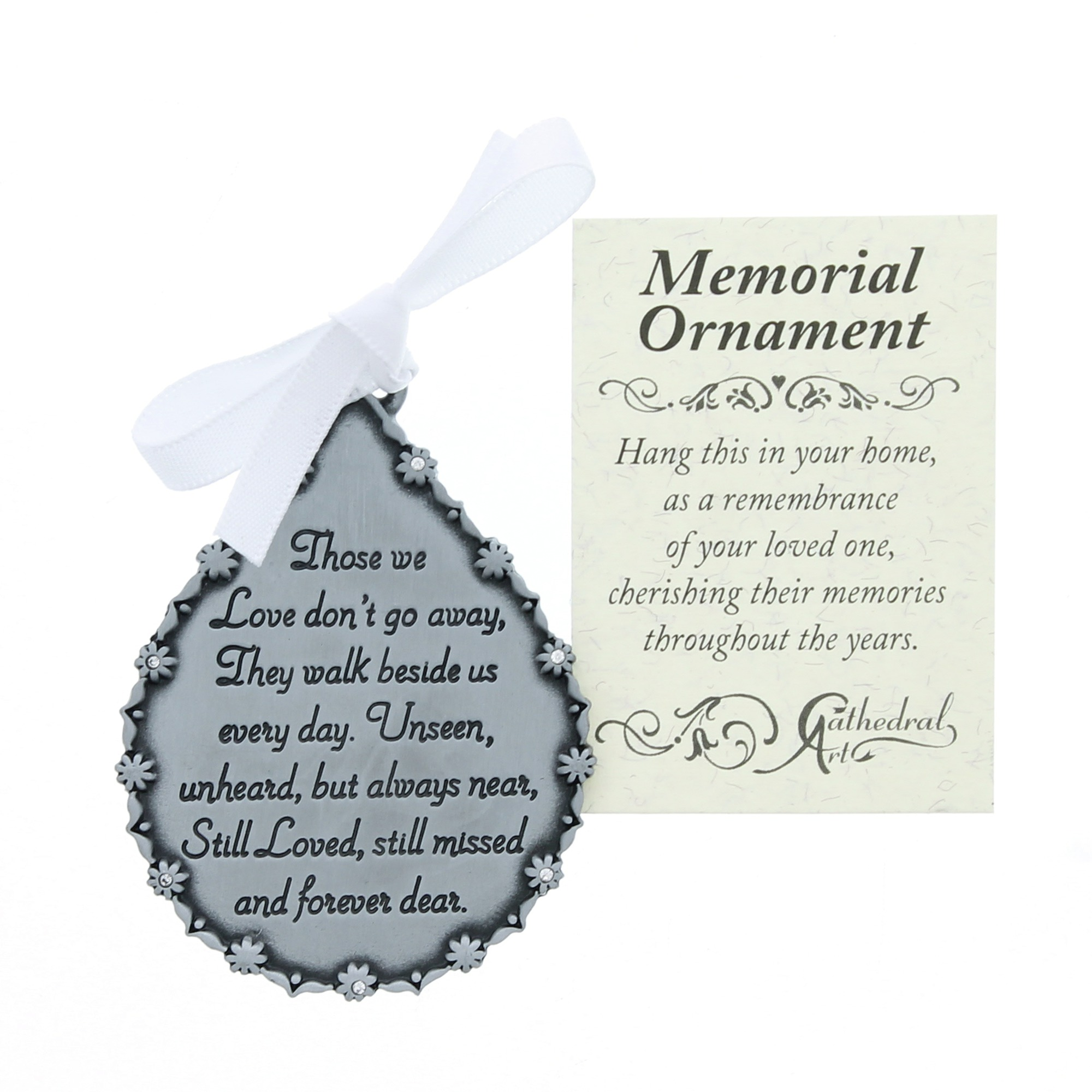 tear shaped memorial ornament