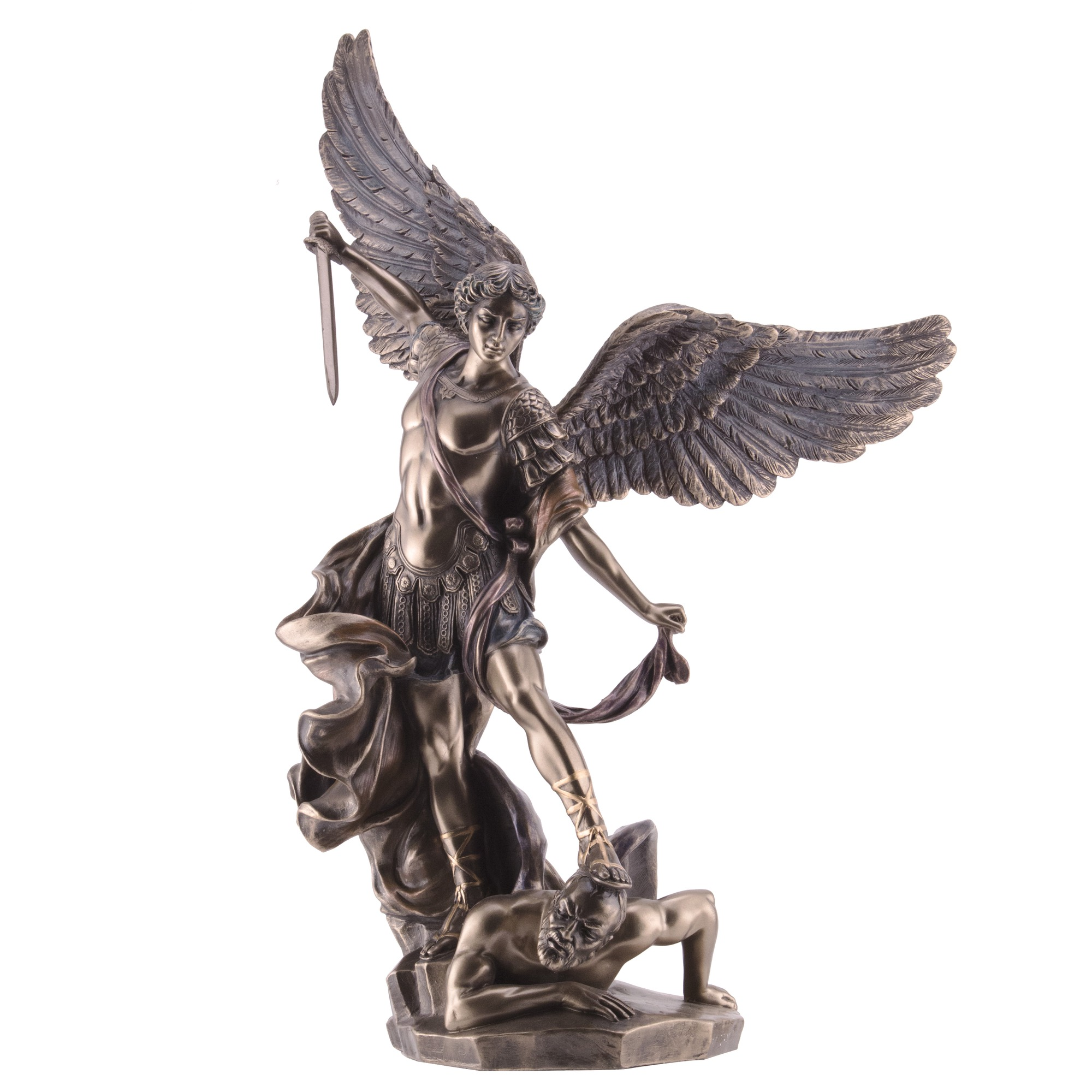 St Michael Bronze Finish Statue 14 The Catholic Company