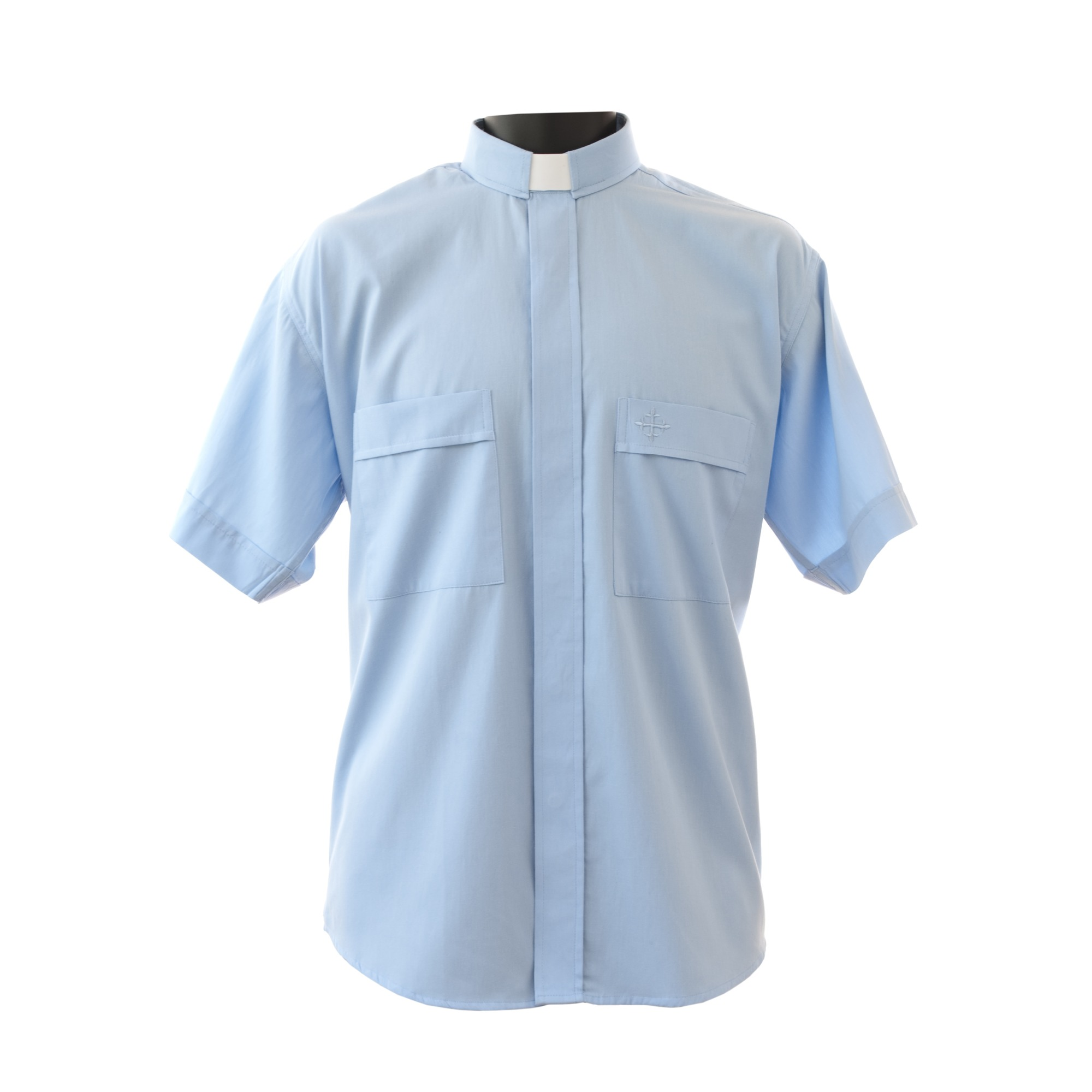 79a1b84d89 Light Blue Short Sleeve Clergy Shirt