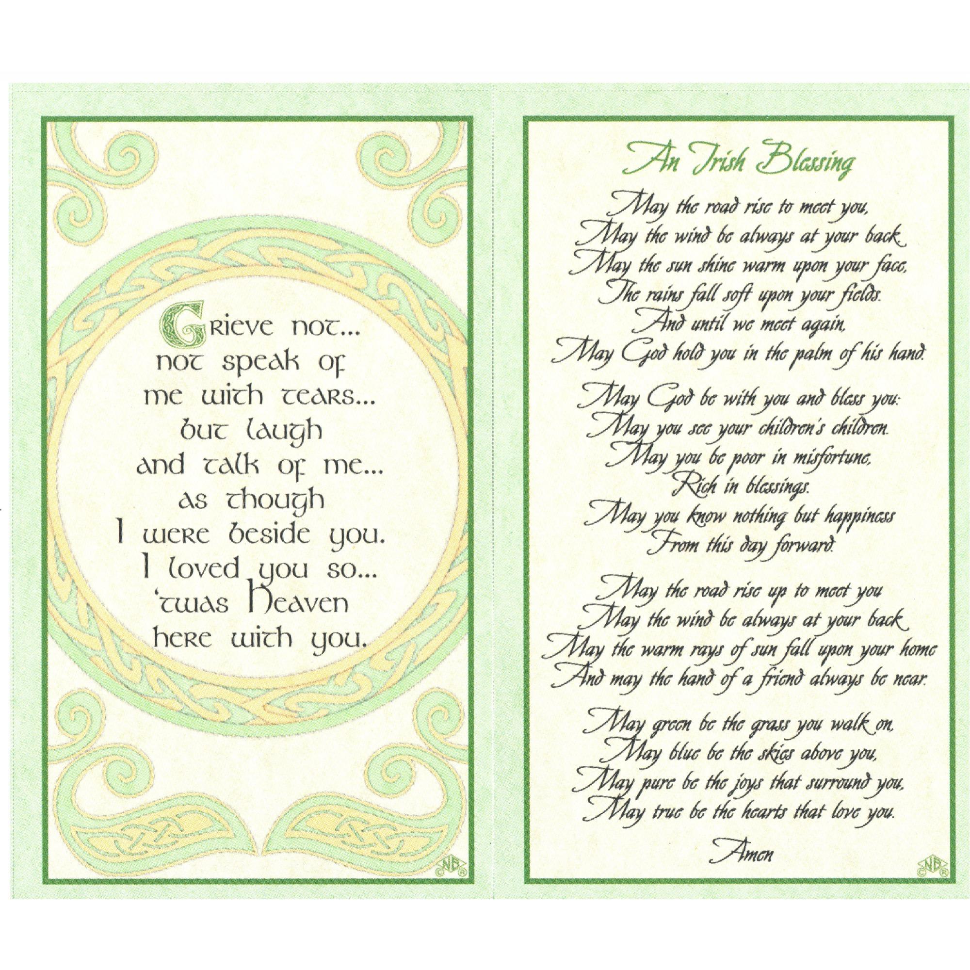 Irish Celtic Series Personalized Prayer Cards (Priced Per Card ...