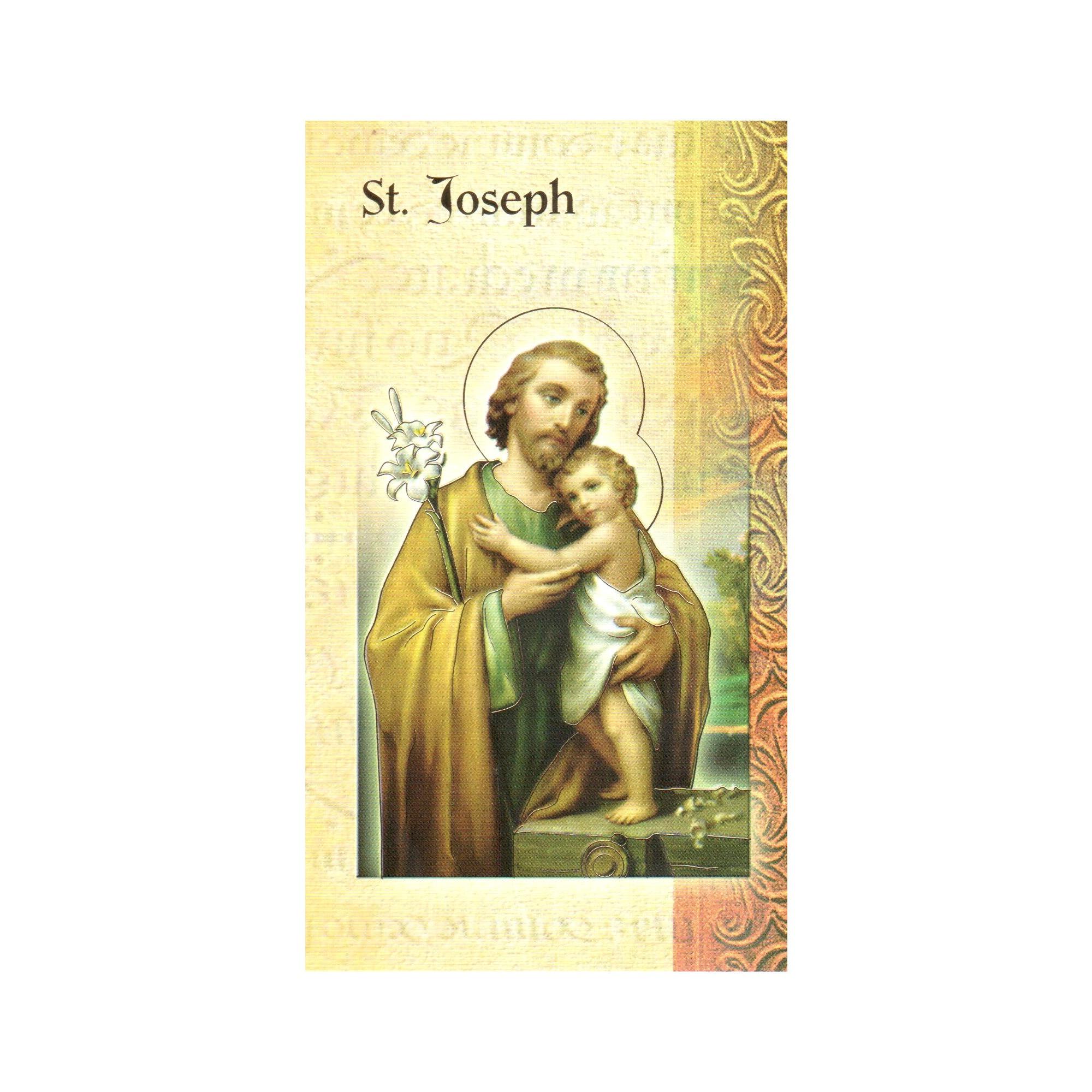 St. Joseph - Mini Lives of the Saints Folded Prayer Card   The ...