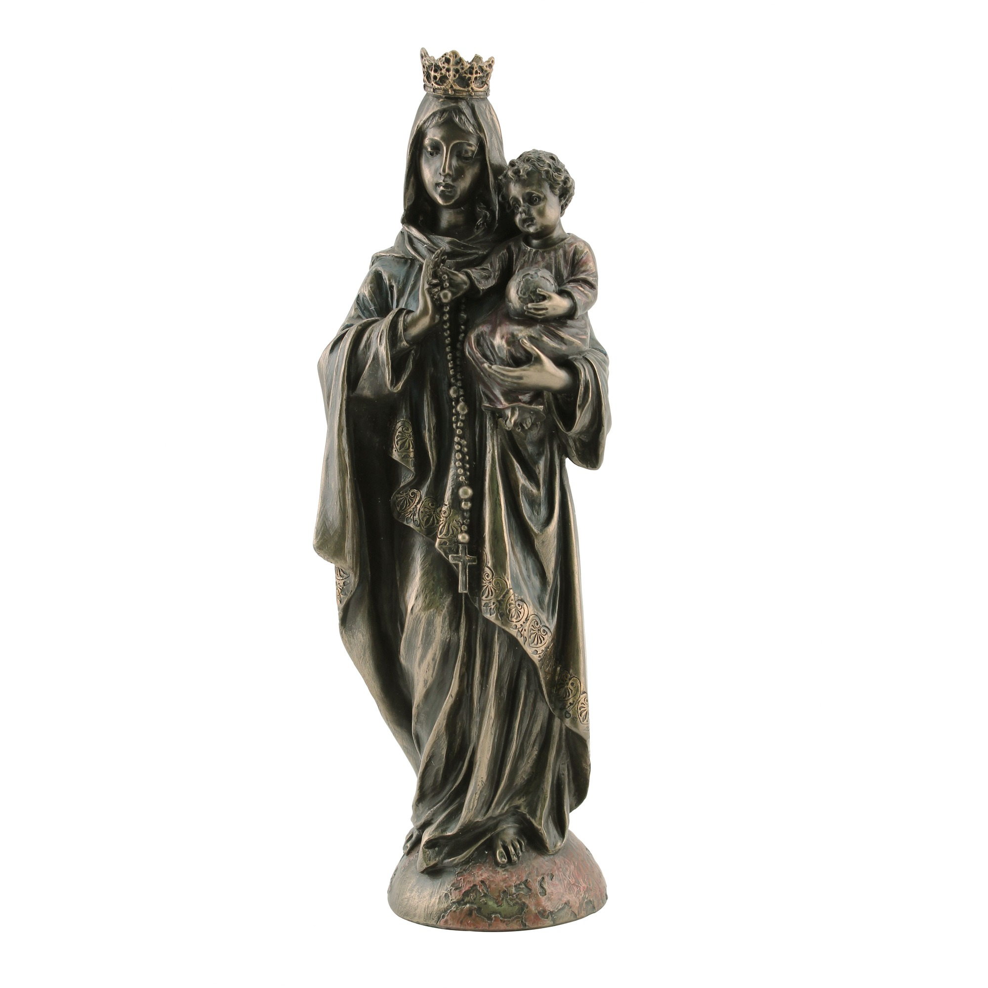 Our Lady Of The Rosary Veronese Statue, 11 Inch