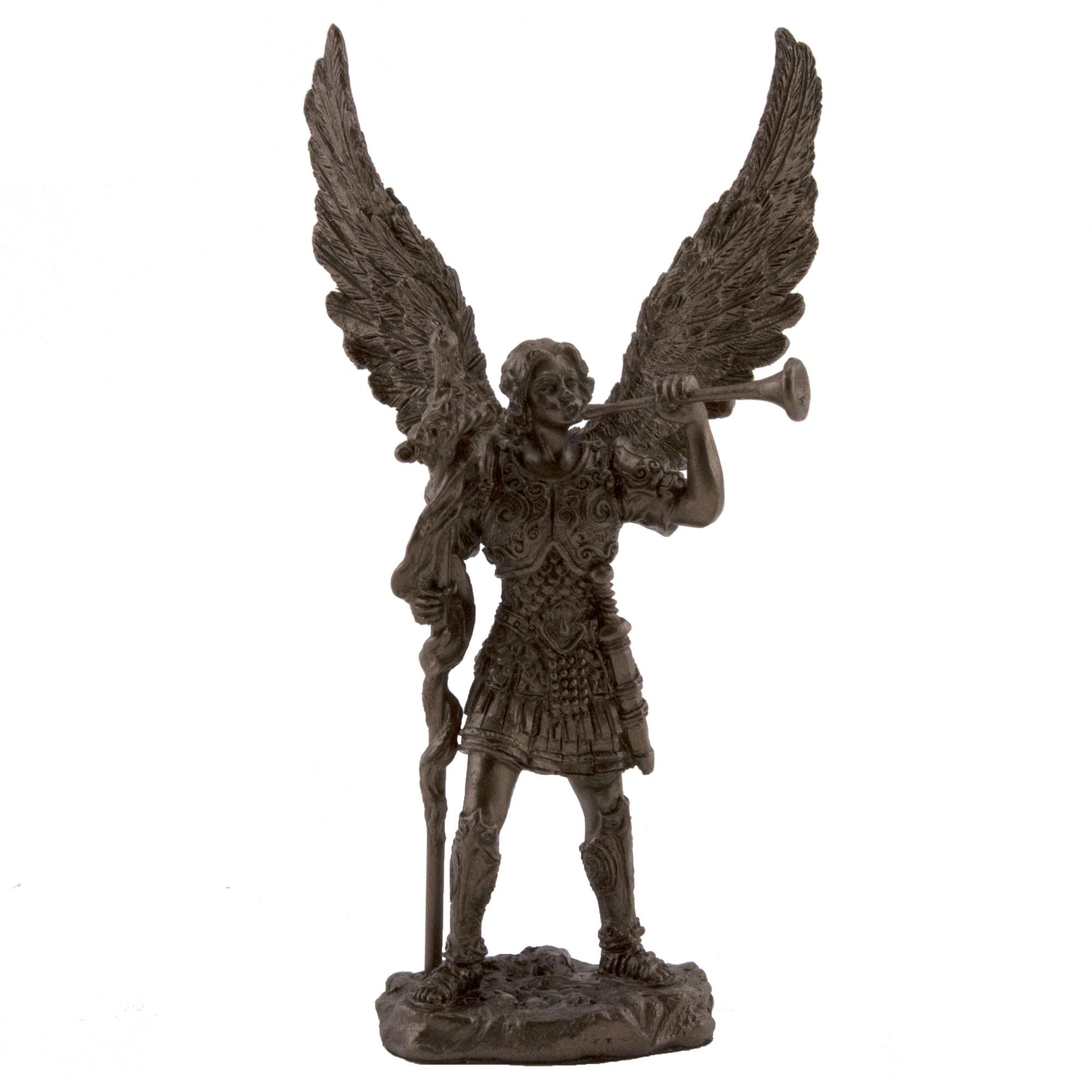 St. Gabriel Archangel Veronese Statue, Bronzed 4 Inch