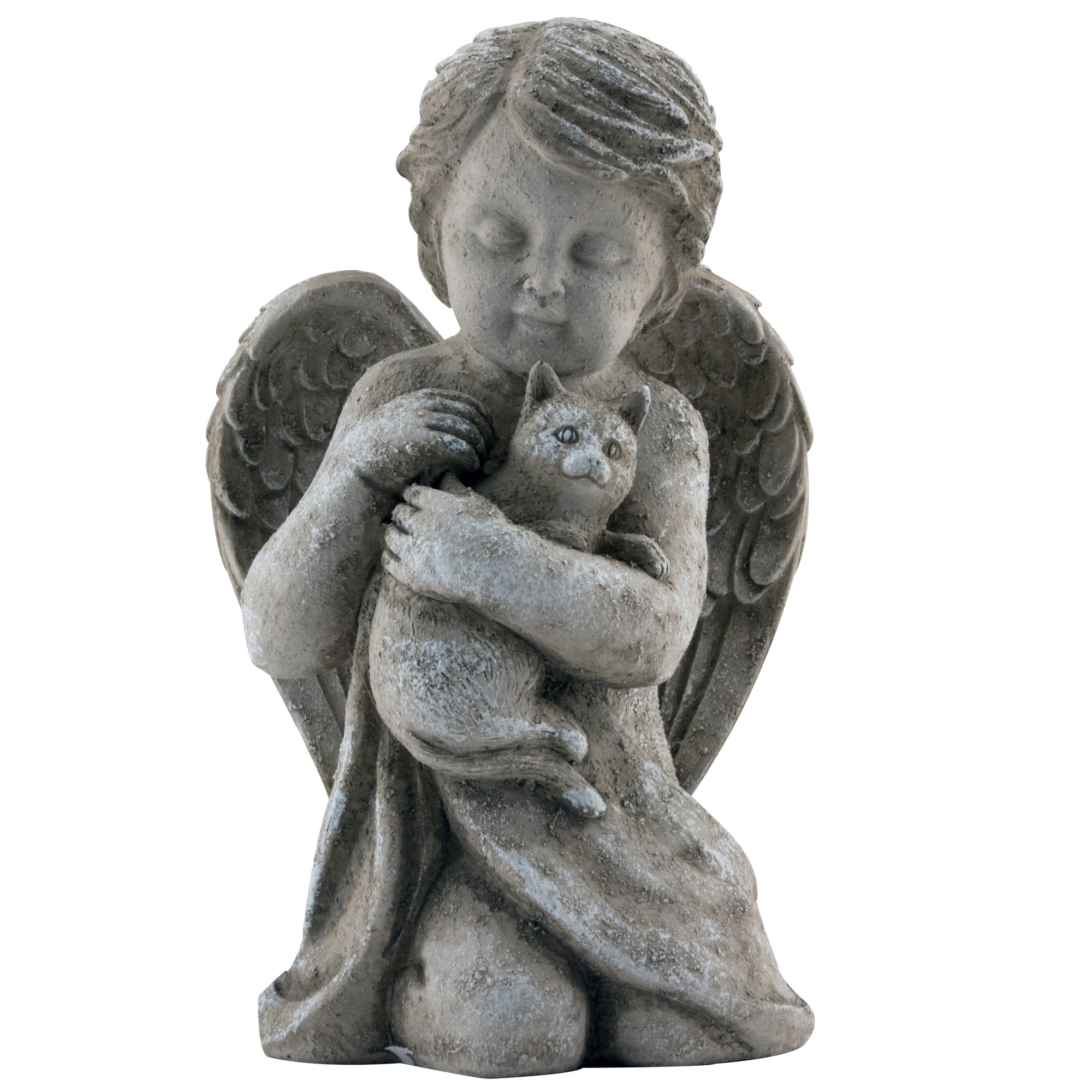 gump s garden cat is friends statue p