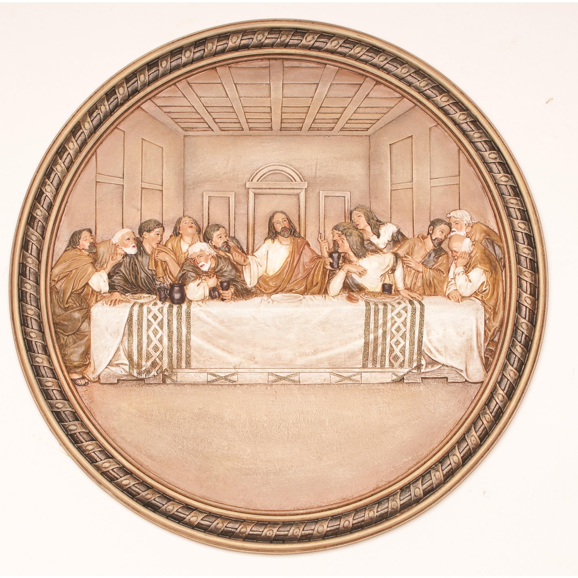Last supper u d relief wood carving u tavenwood