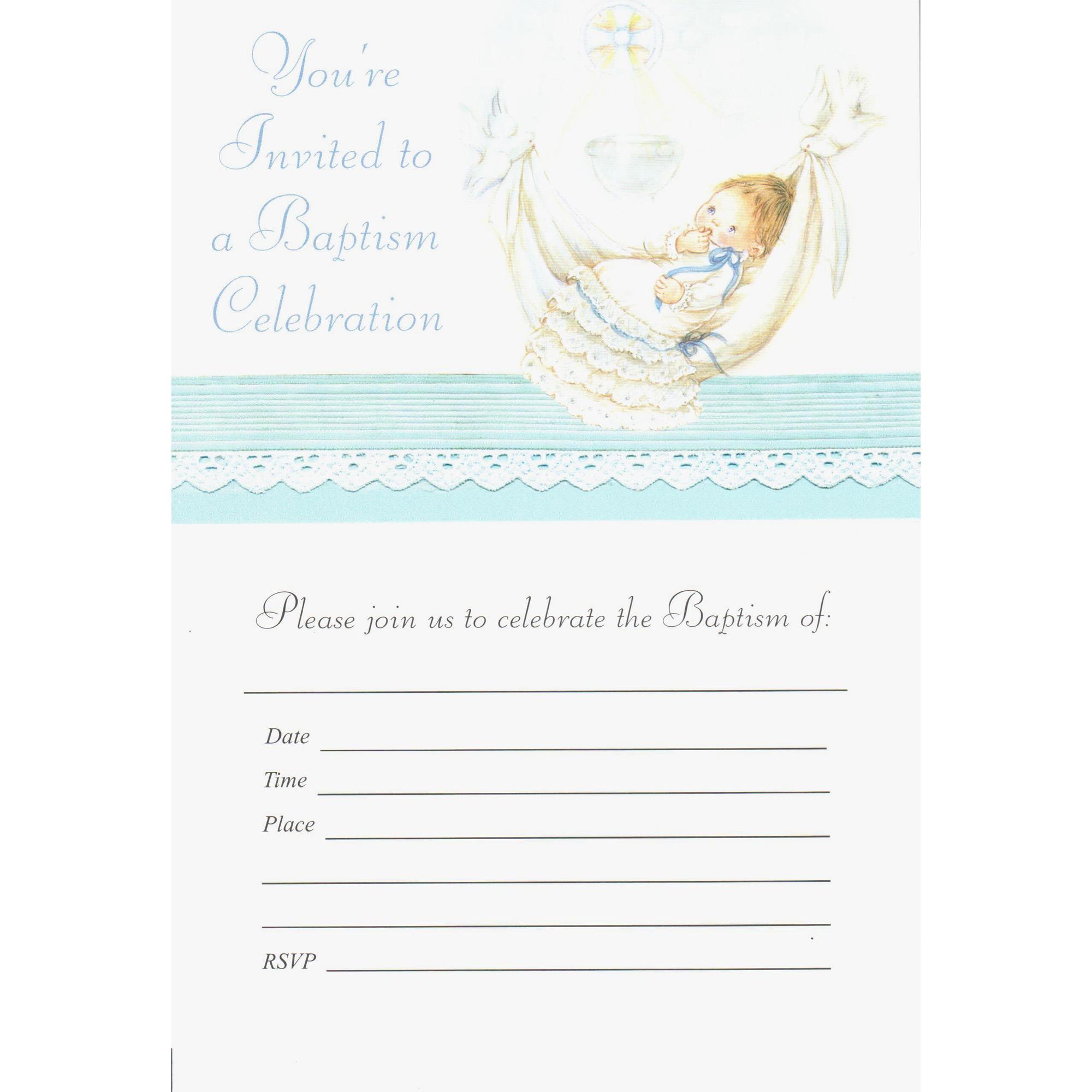 Baptism Invitation - Boy | The Catholic Company
