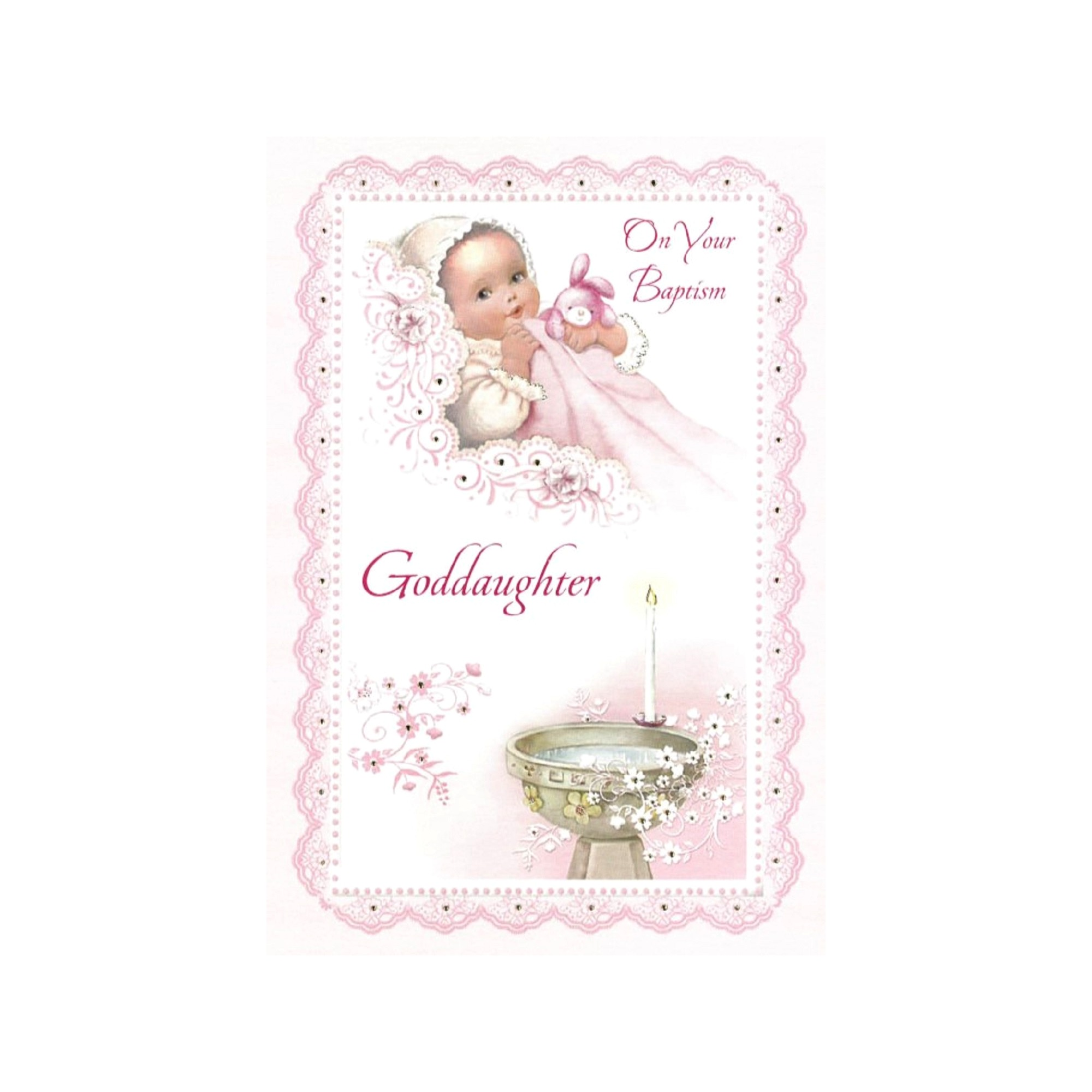 Baptism greeting card goddaughter the catholic company baptism greeting card goddaughter kristyandbryce Image collections