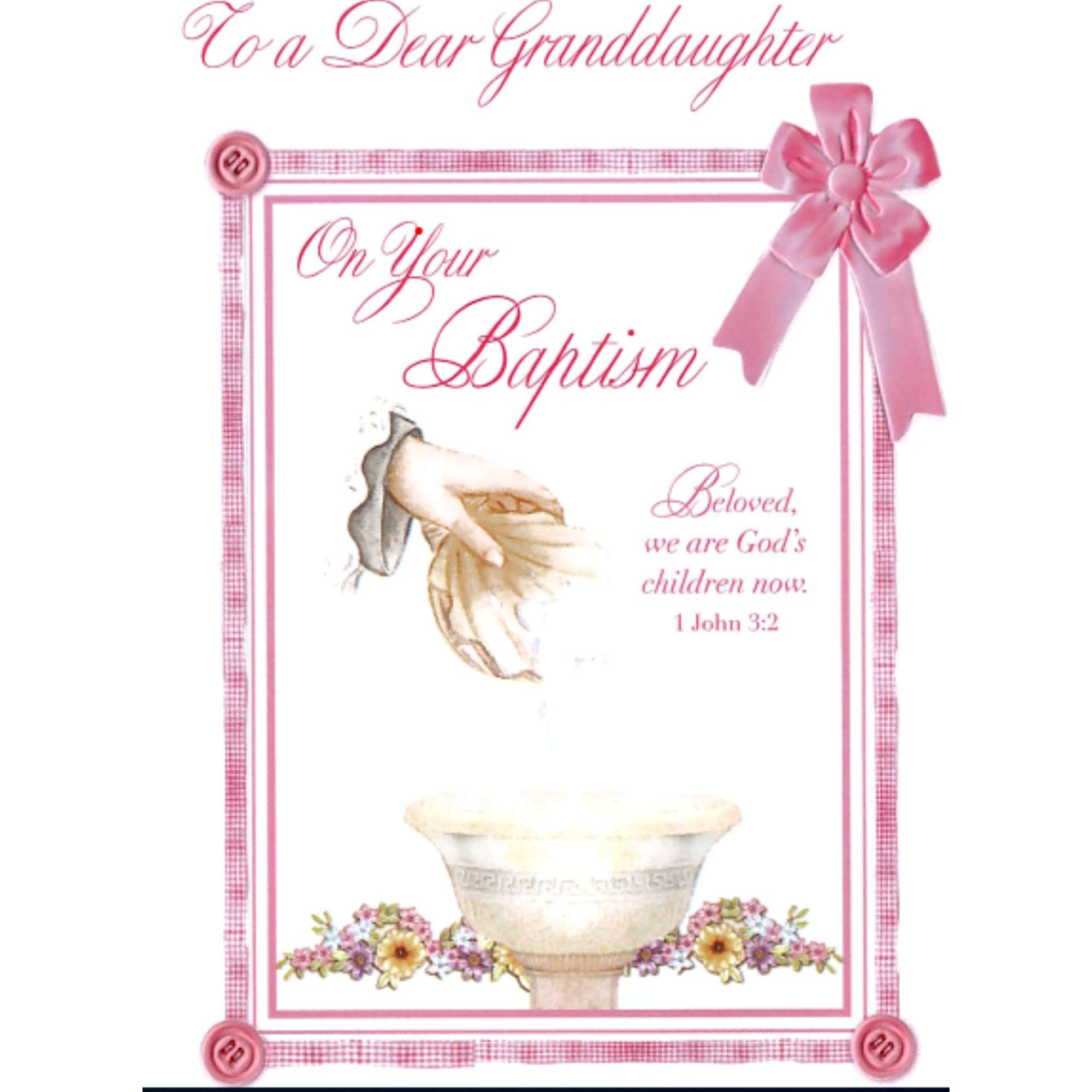 Baptism Greeting Card Granddaughter The Catholic Company