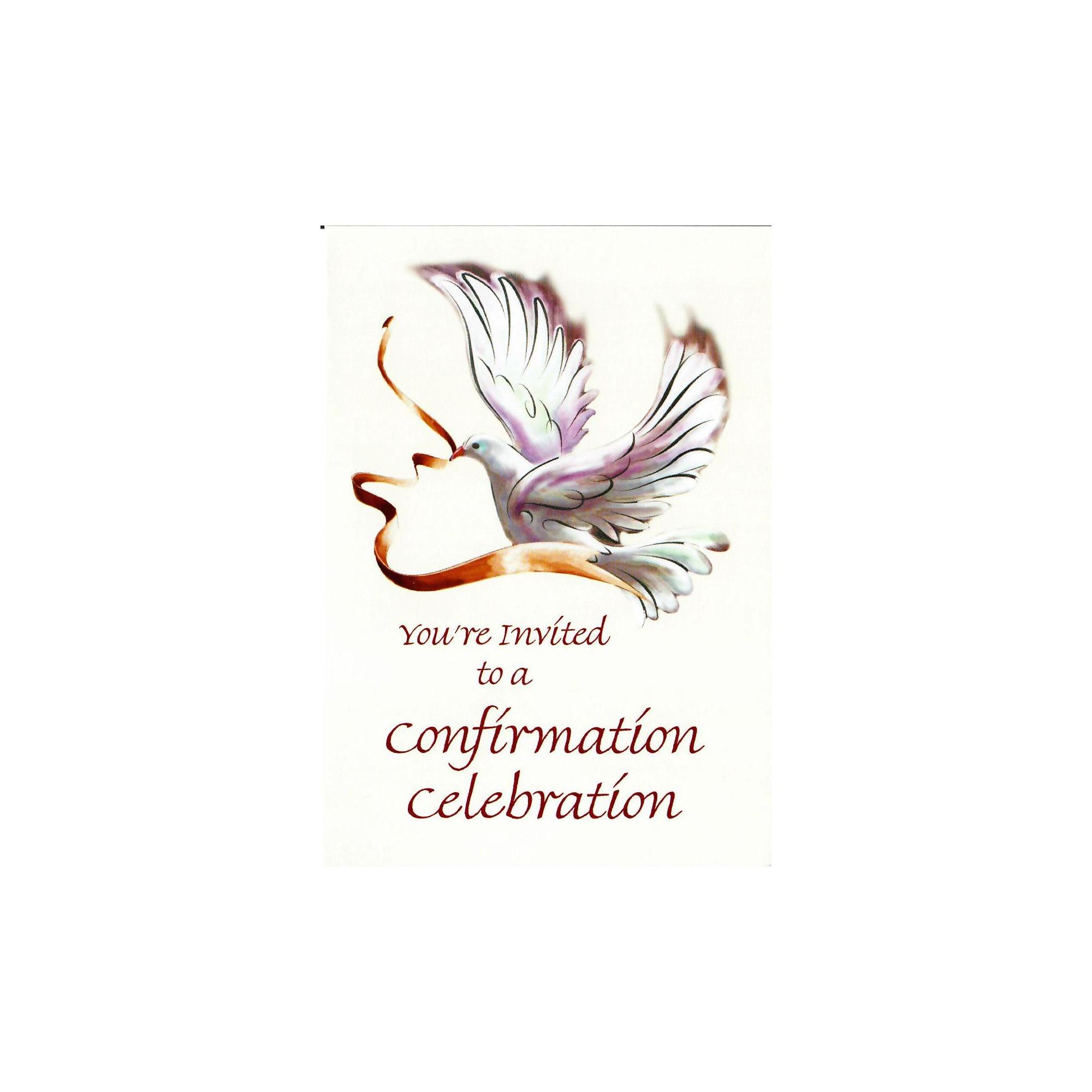 Confirmation Invitations Dove The Catholic Company