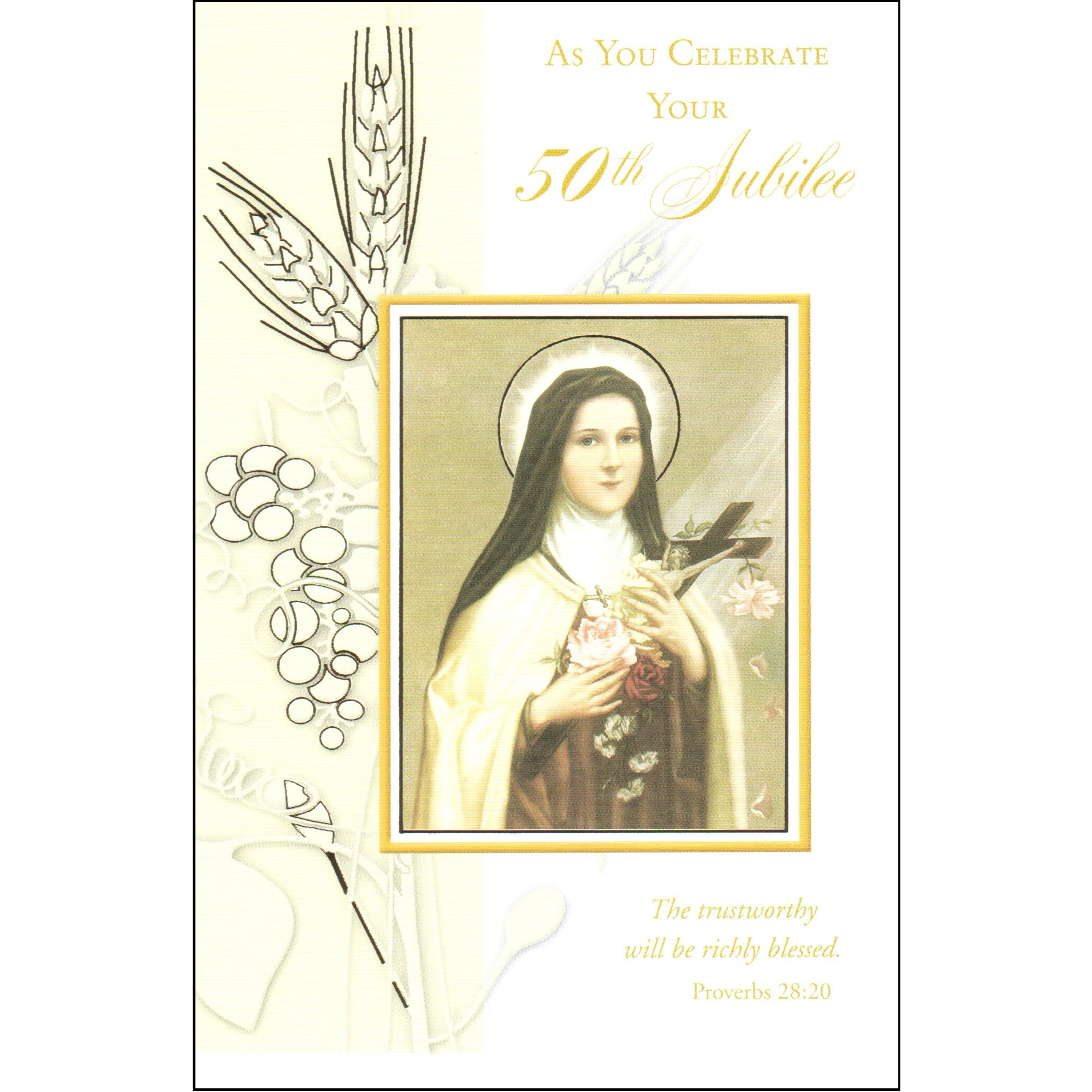 Golden Jubilee St Theresa Greeting Card The Catholic Company