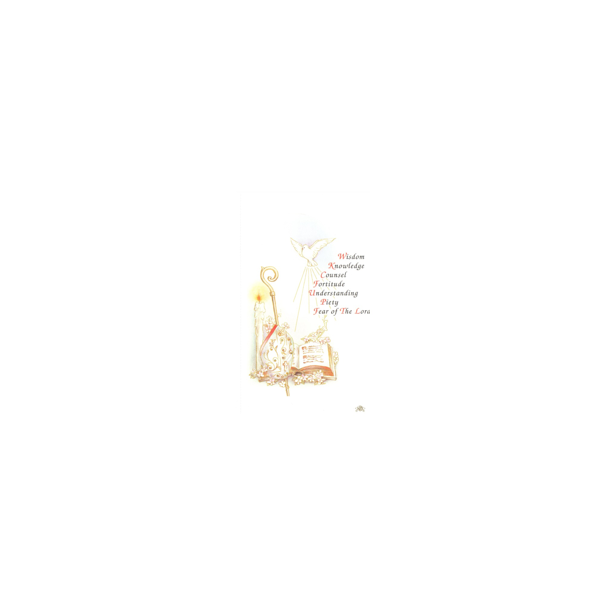 Gifts Of The Spirit Personalized Confirmation Prayer Cards The
