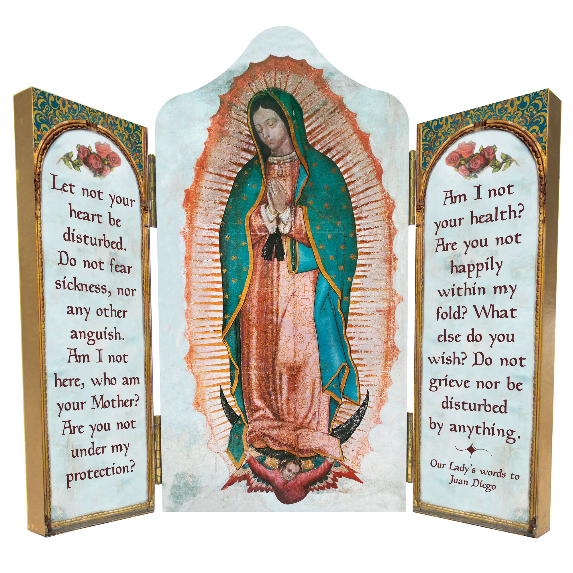 our lady of guadalupe triptych the catholic company