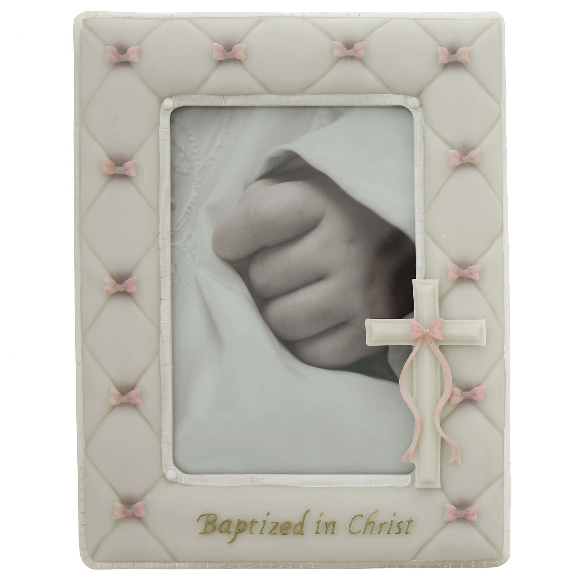 girls baptized in christ photo frame