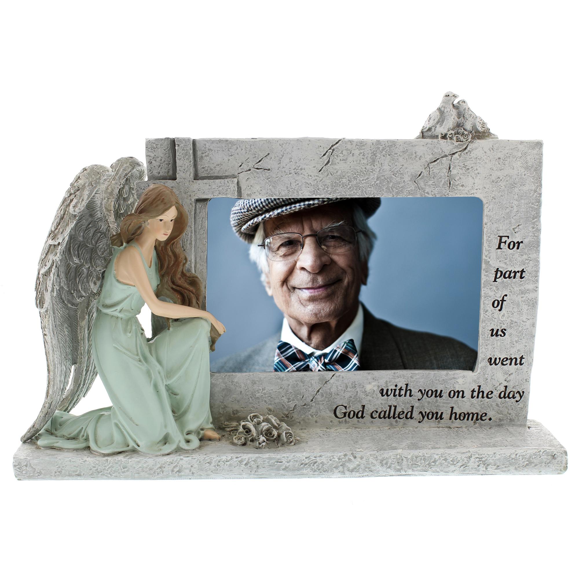 Kneeling Angel Memorial Photo Frame | The Catholic Company
