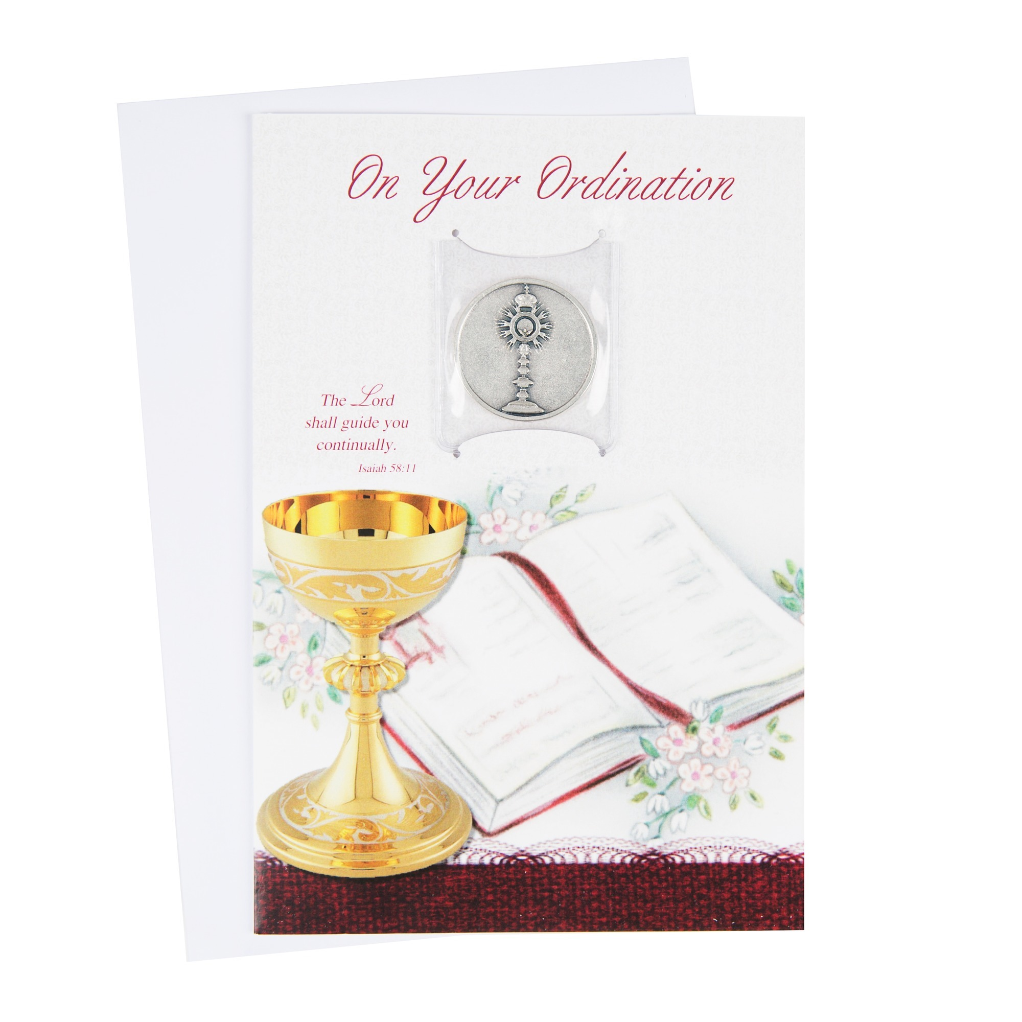 Ordination Card W Monstrance Token The Catholic Company