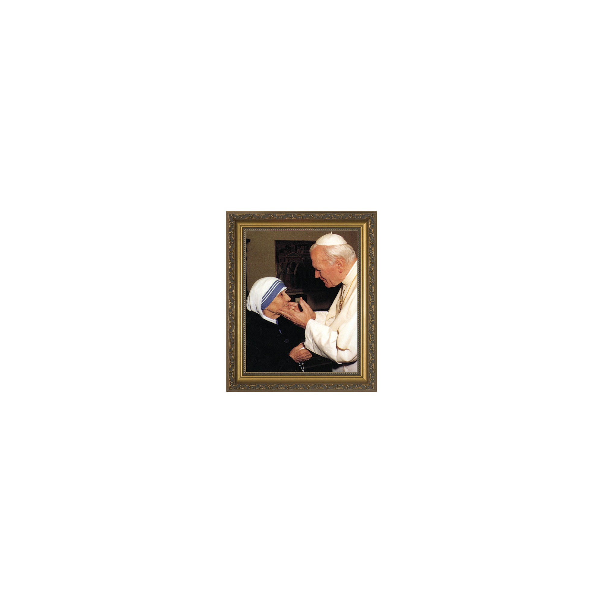 John Paul II w/ Mother Teresa w/ Gold Frame (8x10) | The Catholic ...