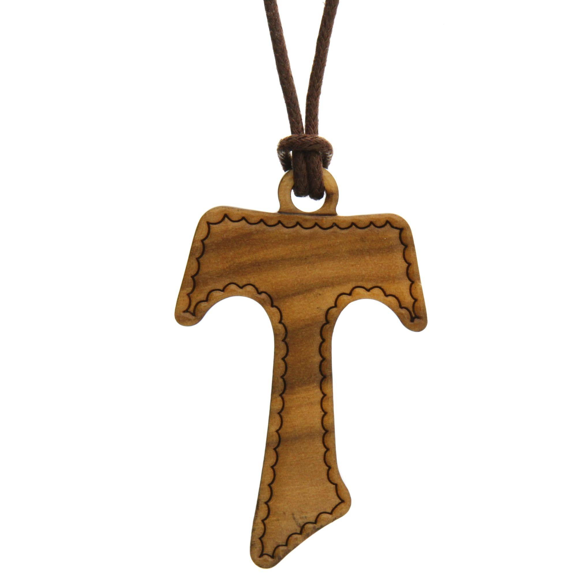 d46f84febe0 Tau Wood Cross Necklace | The Catholic Company