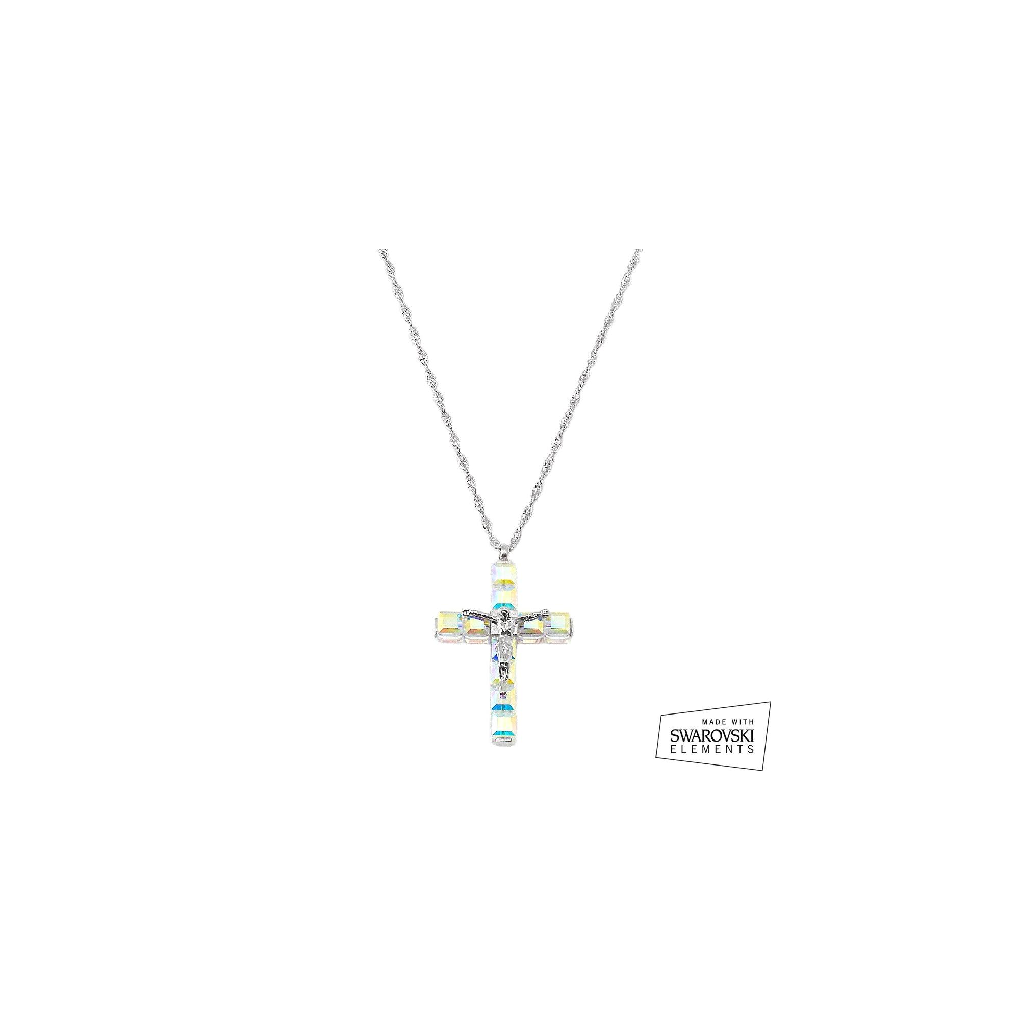 Swarovski crystal sterling silver cross pendant the catholic add to cart add to wishlist jeuxipadfo Images