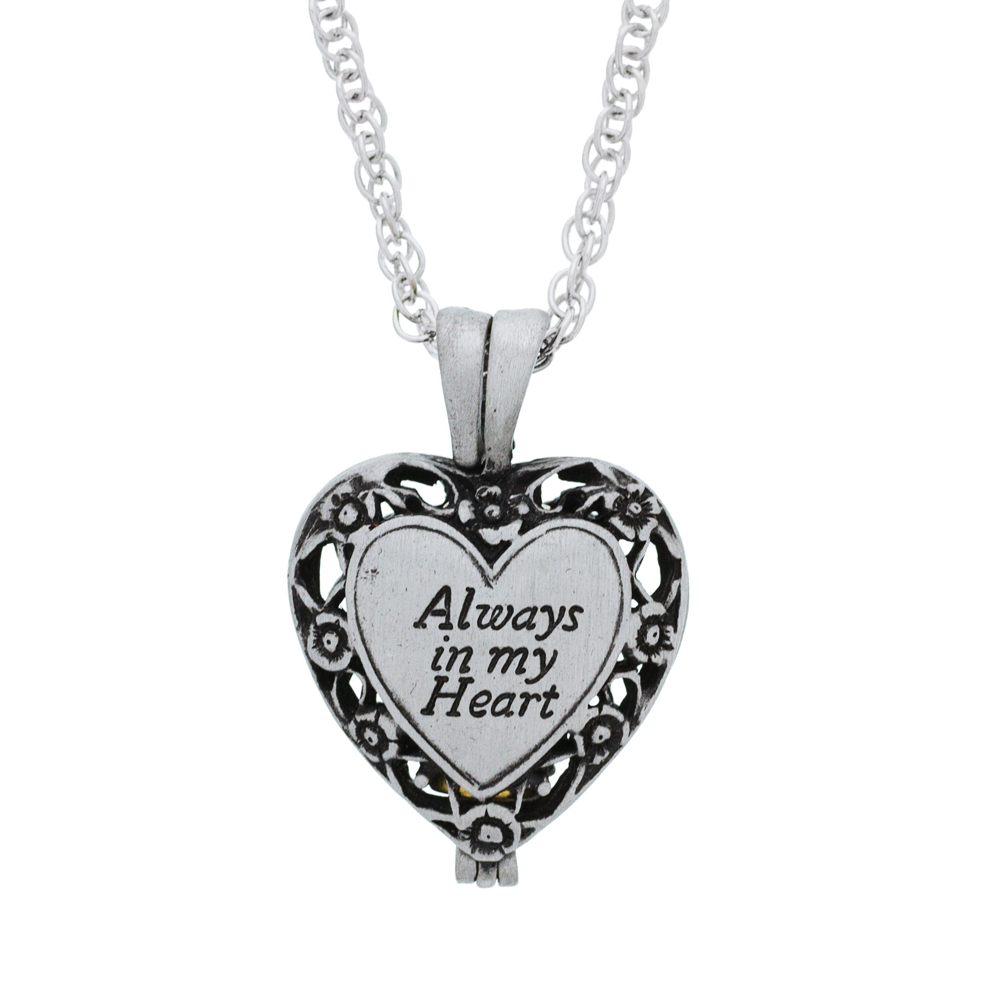 Catholic locket necklaces the catholic company always in my heart locket mozeypictures Image collections