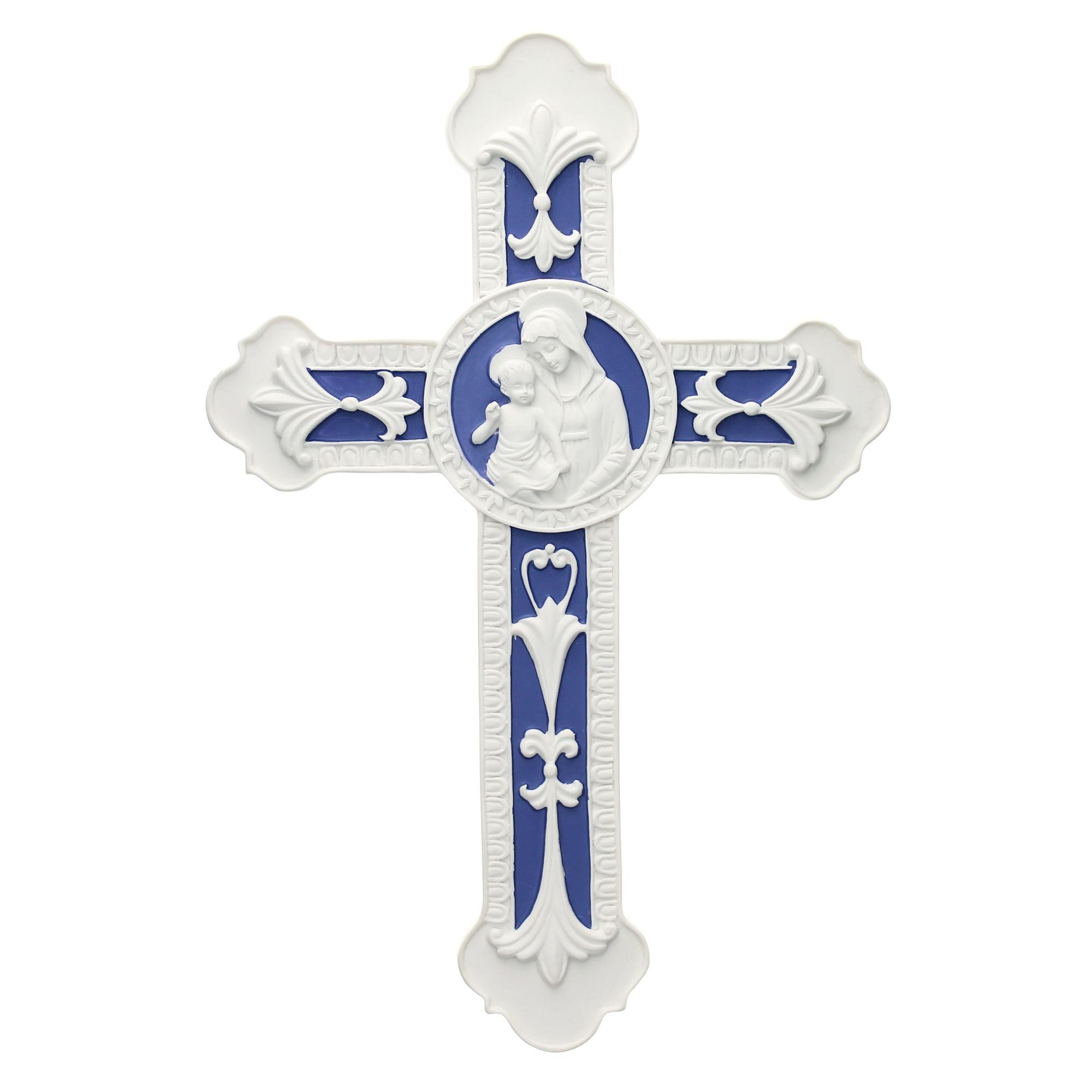 Della Robbia Madonna Child 9 Cross The Catholic Company